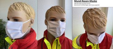 Mund-Nasen-Maske aus 100% Baumwolle (waschbar bei 60°)